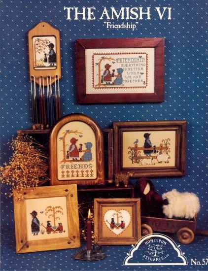 The Amish VI Friendship ~ Cross-Stitch Chart 1986