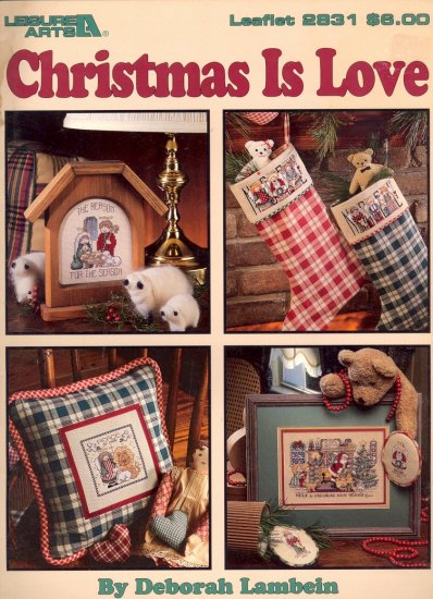 Christmas is Love by Deborah Lambein ~ Cross-Stitch Chart 1996
