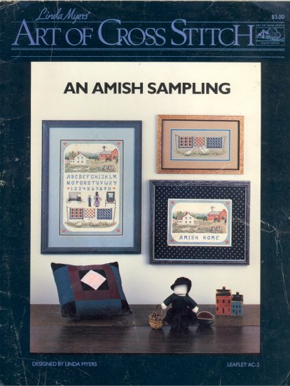 An Amish Sampling by Linda Myers ~ Cross-Stitch Chart 1986