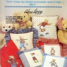 All-American Bears ~ Cross-stitch Booklet Alma Lynne ~ 1985