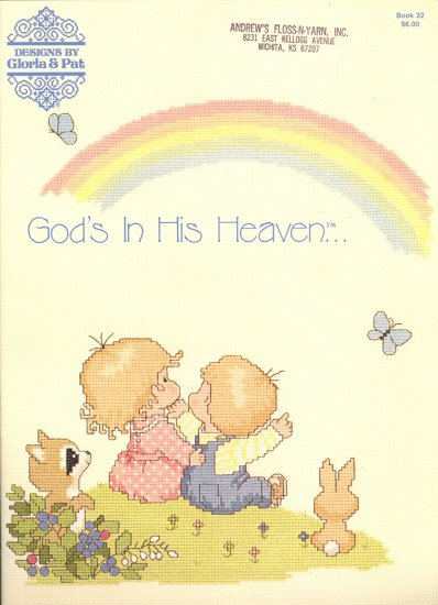 God's in His Heaven ~ Cross-stitch Booklet ~ 1983