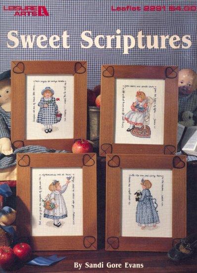 Sweet Scriptures by Sandi Gore Evans ~ Cross-stitch Booklet ~ 1992