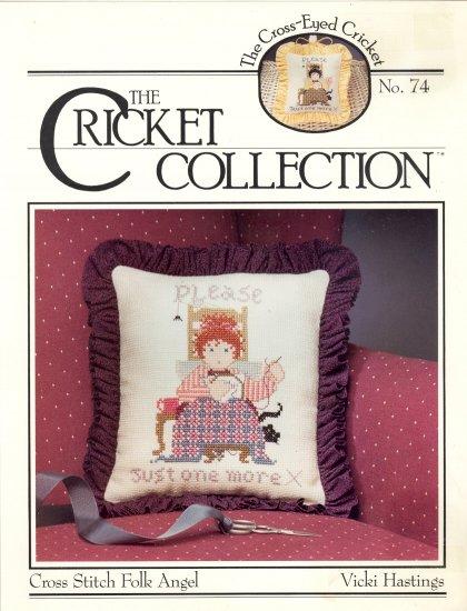Cross Stitch Folk Angel by Vicki Hastings ~ Cross-stitch Chart ~ 1991