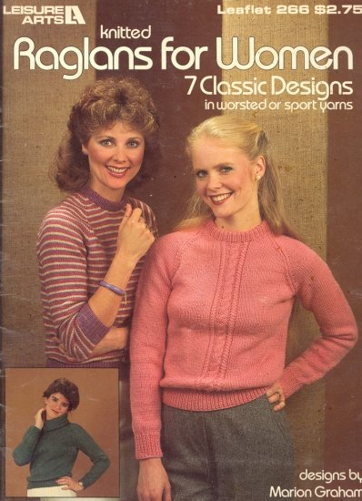 Knitted Raglans for Women by Marion Graham ~ Knit Booklet 1983