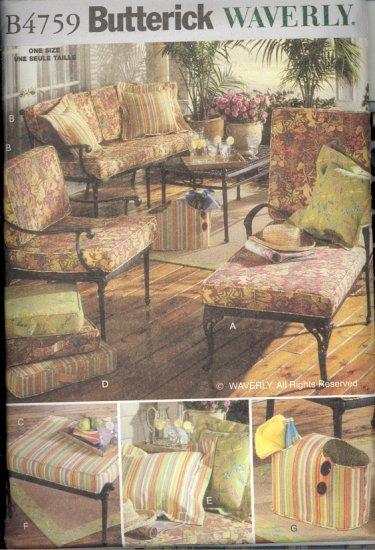 Waverly Outdoor Living Cushions & Pillows ~ Butterick 4759 ~ 2006
