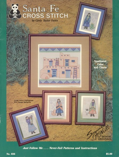 Santa Fe Cross-stitch Book ~ 1988