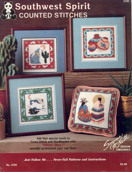 Southwest Spirit Cross-stitch or Needlepoint Book ~ 1990