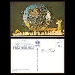 Unisphere Night Scene, 1964 NY World's Fair, Postcard