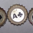 PBR (Pabst, red, white and blue) bottle caps (5 card hand)