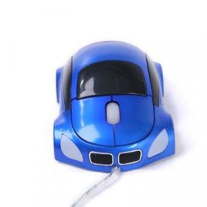 Car Shape USB Optical Mouse Blue