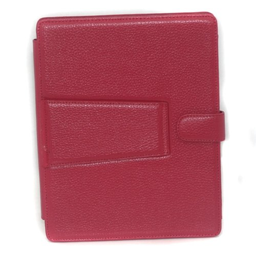 Custom elegant design leather case for Apple iPad Red