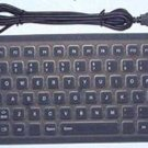 Easy to Carry Soft Waterproof Silicon Keyboard black without numberic