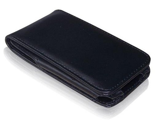 Black Leather Flip Cases for Apple iPhone 3G 3GS