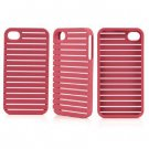 Frame Front & Back Hard Skin Case Cover for Apple iPhone 4G / 4S Red