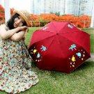 Magic Umbrella UV color umbrella folding umbrella BABY red fish
