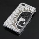 Rhinestone Skull Bling HARD BACK CASE Cover for Apple iPhone 4G 4 New
