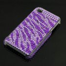 Purple Rhinestone Bling HARD BACK CASE Cover for Apple iPhone 4G 4 New