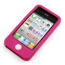 Soft Silicone Case Cover Skin for Apple iPhone 4 4G (Function key random color )
