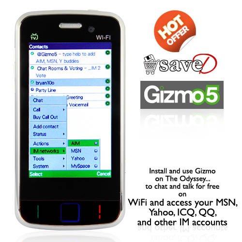 Drop Price !!! Odyssey, WiFi Quadband Dual-SIM Cellphone w/ 3 Inch Touchscreen