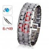 Iron Samurai - Japanese Inspired Red LED Watches