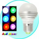 3 LED Color Changing Light Bulbs with Remote