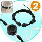 2 Throat Mic Sets for Walkie Talkies / 2-Way Radios - MFN