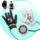 Electronic Piano Gloves with Musical Fingertips