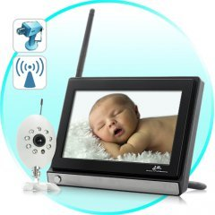 Monitor Buddy - Wireless Widescreen 7 Inch LCD Baby Monitor with Night Vision Camera