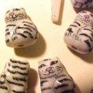 Cat 6 Ceramic Grey Tabby Beads