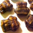 Frog 8 Brown Variegated Glass Beads