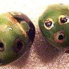 Ladybug 4 Purple Porcelain Beads
