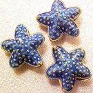 Starfish 5 Light Blue Cloisonne Beads