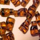 Cat Standing 25 Tortoise Striped Glass Beads