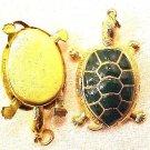 Turtle Pendant Green Wiggle Head Legs