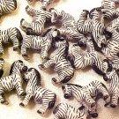 Zebra 4 Pottery Beads