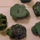 Frog 3 Green Clay Beads