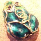 Frog 5 Cloisonne Golden Style Bead