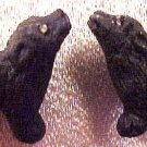 Dog Black Lab 4 Pottery Beads