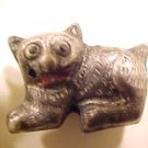 Cat 2 Pewter Colored Metal Beads