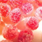 Sugar Coated 6 Red Glass Beads