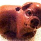 Pig Carved Ojime Bead Sitting