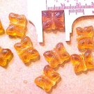 Butterfly 10 Amber Color Glass Beads