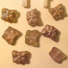 Butterfly 12 Mini Pinkish Beige Iridescent Beads