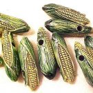 Corn Cob 3 Pottery Beads