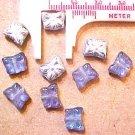 Butterfly 12 Purple Blue Silver Mini Beads