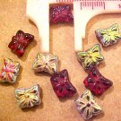 Butterfly 12 Mini Deep Red Aurora Glass Bead