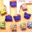 Butterfly 12 Mini Cobalt Blue Carnival Beads