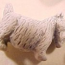 Dog Scottie Westie 5 White Ceramic Beads