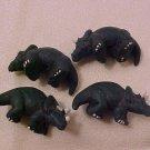 Dinosaur Triceratops 3 Clay Beads