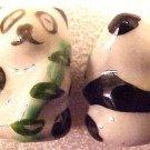 Panda 6 Black + White Porcelain Beads